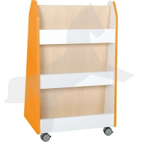 Quadro - Bücherregal zweiseitig - Ahorn, orange