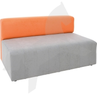 Sofa Modern, grau-orange