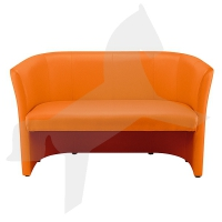 Clubsofa, Zweisitzer, orange