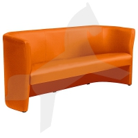 Clubsofa, Dreisitzer, orange