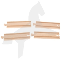 Holzschienen Set 4